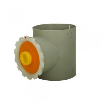 Fühlstutzen mit Deckel 100 mm Durchmesser