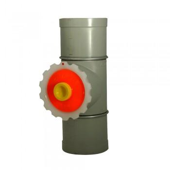 Fühlstutzen mit Deckel 125 mm Durchmesser
