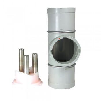 Fühlstutzen mit Neodym-Magnetrost, 100 mm Durchmesser
