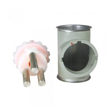 Fühlstutzen mit Neodym-Magnetrost, 100 mm Bördel