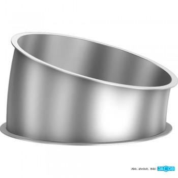 Rohr-Segment 15 Grad, D=300, 1 mm V2A-Stahl
