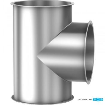 Kontrollstutzen/T-Stück D=100 mm, 1.5 mm verzinkt